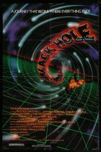 4t080 BLACK HOLE advance 1sh '79 Disney sci-fi, cool art of Schell, Anthony Perkins, Robert Forster