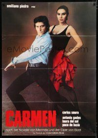4y012 CARMEN German 33x47 '83 Spanish flamenco dancers Antonio Gades & Laura Del Sol!