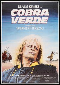 4y013 COBRA VERDE German 33x47 '87 Werner Herzog, Klaus Kinski as most feared bandit in Africa!