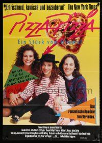 4y019 MYSTIC PIZZA German 33x47 '89 Annabeth Gish, Julia Roberts, love, friendship, dreams & life!