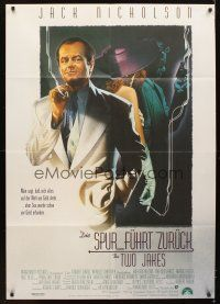 4y024 TWO JAKES German 33x47 '90 cool full-length art of smoking Jack Nicholson by Rodriguez!
