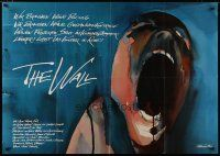 4y025 WALL German 33x47 '82 Pink Floyd, Roger Waters, classic rock & roll art by Gerald Scarfe!