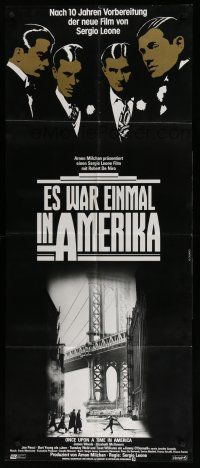 4y011 ONCE UPON A TIME IN AMERICA German 23x55 '84 De Niro, James Woods, directed by Sergio Leone!
