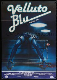 4y073 BLUE VELVET Italian 1p '86 directed by David Lynch, gruesome artwork by Enzo Sciotti!