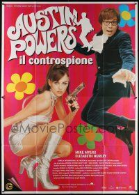 4y031 AUSTIN POWERS: INT'L MAN OF MYSTERY Italian 2p '97 Mike Myers, sexy Elizabeth Hurley!