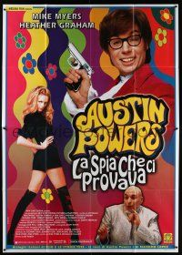 4y032 AUSTIN POWERS: THE SPY WHO SHAGGED ME Italian 2p '97 Mike Myers, sexy Heather Graham!