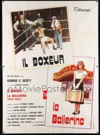 4y048 MOVIE MOVIE Italian 2p '79 completely different art of boxer in ring & would-be showgirl!