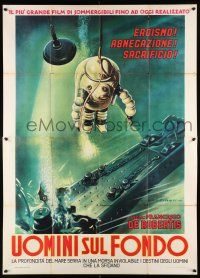 4y060 UOMINI SUL FONDO Italian 2p R60s cool Martinati art of deep sea diver in cool suit underwater!