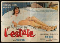 4y026 L'ESTATE Italian 4p '66 huge full-length close up of sexy Mita Medici showing her legs!
