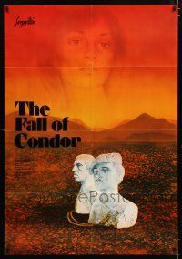 4y006 FALL OF THE CONDOR Russian 32x46 '82 Sebastian Alarcon's Padeniye Kondora, different art!