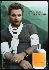 4y002 EWAN MCGREGOR 35x50 Swiss advertising poster '00s selling Davidoff Adventure cologne!