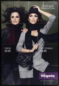 4y001 PENELOPE CRUZ/MONICA CRUZ 46x67 Swiss advertising poster '00s selling Charles Vogele fashion!