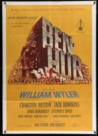 4y003 BEN-HUR Swiss 36x50 R60s Charlton Heston, William Wyler classic religious epic, cool art!