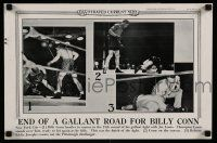 4z021 ILLUSTRATED CURRENT NEWS newsstand poster '41 end of a gallant road for Billy Conn, boxing!