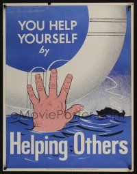 4z077 NATIONAL RESEARCH BUREAU 442 17x22 motivational poster '60s help yourself by helping others!