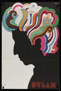4z030 DYLAN record album insert '67 colorful silhouette art of Bob by Milton Glaser!
