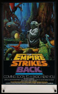 4z027 EMPIRE STRIKES BACK radio poster '82 George Lucas sci-fi classic, cool art by McQuarrie!