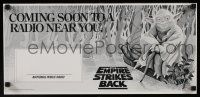 4z028 EMPIRE STRIKES BACK radio poster '82 George Lucas sci-fi classic, cool art by Strain!