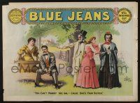 4z102 BLUE JEANS horizontal 22x29 stage poster 1890 Joseph Arthur, cool stage play artwork!
