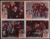 4z072 HAUNTED GOLD uncut LC poster R56 images of cowboy John Wayne, a gun on everybody's hip!