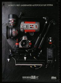 4z017 NIKONOS RSAF 23x33 Japanese advertising poster '00s image of the underwater camera & parts!
