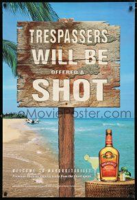 4z011 TRESPASSERS WILL BE OFFERED A SHOT 26x38 advertising poster '00 Margaritaville Tequila!