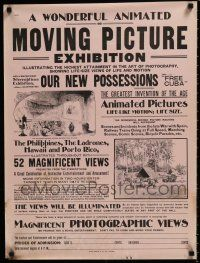 4z562 WONDERFUL ANIMATED OR MOVING PICTURE EXHIBITION 21x28 special '00s early film festival