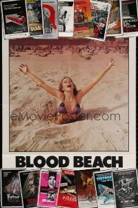 5a001 LOT OF 16 FOLDED HORROR ONE-SHEETS '70s-80s a variety of great gruesome images!