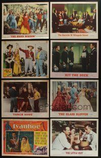 5a034 LOT OF 30 1950s MGM LOBBY CARDS '50s great scenes from a variety of different movies!