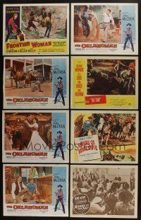5a036 LOT OF 46 1950s WESTERN LOBBY CARDS '50s great scenes of cowboy heroes saving the day!
