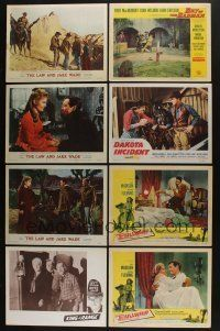 5a037 LOT OF 40 1950s WESTERN LOBBY CARDS '50s great scenes of cowboy heroes saving the day!