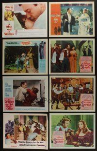 5a040 LOT OF 117 1960s LOBBY CARDS '60s great scenes from a variety of different movies!