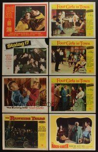 5a043 LOT OF 87 1950s LOBBY CARDS '50s great scenes from a variety of different movies!