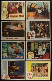 5a044 LOT OF 83 1950s LOBBY CARDS '50s great scenes from a variety of different movies!