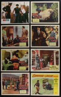 5a049 LOT OF 57 1950s-80s LOBBY CARDS '50s-80s great scenes from a variety of different movies!