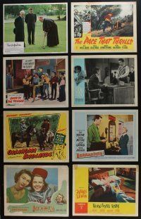5a050 LOT OF 57 1930s-80s LOBBY CARDS '30s-80s great scenes from a variety of different movies!