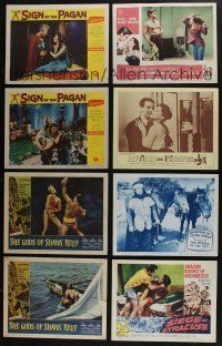 5a053 LOT OF 51 1940s-60s LOBBY CARDS '40s-60s great scenes from a variety of different movies!