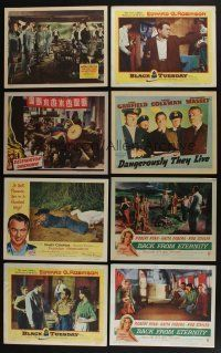 5a054 LOT OF 51 1940s-50s LOBBY CARDS '40s-50s great scenes from a variety of different movies!