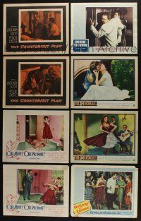 5a055 LOT OF 50 1950s LOBBY CARDS '50s great scenes from a variety of different movies!