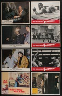 5a058 LOT OF 47 1970s LOBBY CARDS '70s great scenes from a variety of different movies!