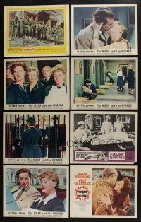 5a060 LOT OF 45 1950s LOBBY CARDS '50s great scenes from a variety of different movies!