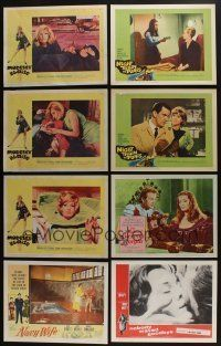 5a061 LOT OF 44 1950s-70s LOBBY CARDS '50s-70s great scenes from a variety of different movies!