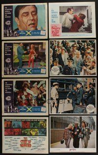 5a062 LOT OF 43 1950s-70s LOBBY CARDS '50s-70s great scenes from a variety of different movies!