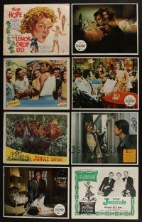 5a063 LOT OF 35 1950s-70s LOBBY CARDS '50s-70s great scenes from a variety of different movies!