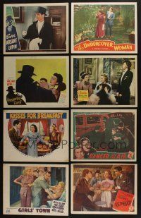 5a064 LOT OF 35 1940s LOBBY CARDS '40s great scenes from a variety of different movies!