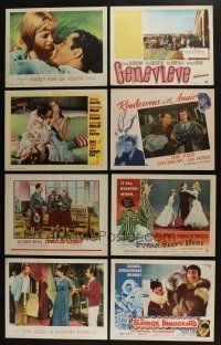 5a065 LOT OF 25 LOBBY CARDS '50s-90s great scenes from a variety of different movies!