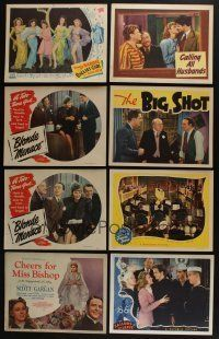 5a067 LOT OF 23 1940s LOBBY CARDS '40s great scenes from a variety of different movies!