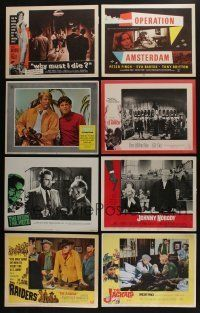 5a076 LOT OF 19 1960S SETS OF 8 LOBBY CARDS '60s complete sets from a variety of movies!