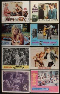 5a077 LOT OF 17 1960S SETS OF 8 LOBBY CARDS '60s complete sets from a variety of different movies!