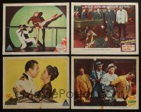 5a035 LOT OF 4 1940s MGM LOBBY CARDS '40s On the Town, Any Number Can Play, Malaya, Luxury Liner!